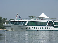 "The ""MS Amadeus Royal"" German-owned passenger tour boat and botel (boat hotel) at Dunakeszi - Dunakeszi, Hungary"