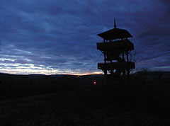 The Ámos Hill Lookout Tower at night - Eplény, Hungary
