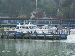 A police motorboat in the harbour - Fonyód, Hungary