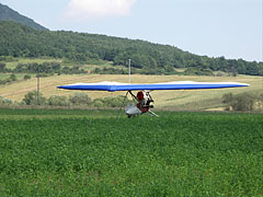 A hang-glider in the field - Füzér, Hungary