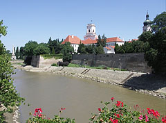"The Castle of Győr, the Episcopal Palace and The Rába River, viewed from the Rába Double Bridge (""Kettős híd"") - Győr, Hungary"