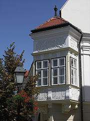 Corner balcony of the Altabak House - Győr, Hungary