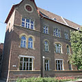 The brick-walled Bethlen Gábor Reformed High School (or Secondary School) - Hódmezővásárhely, Hungary