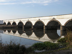 "The neoclassical style Nine-holed Bridge (""Kilenclyukú híd"") over the Hortobágy River - Hortobágy, Hungary"
