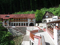 The entrance of the Baradla Cave, and on the right it is the Kessle Hubert Memorial House - Jósvafő, Hungary