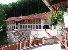 The reception building of the Baradla Cave (Aggtelek Cave) at Jósvafő, viewed from the terrace of the Tengerszem Restaurant - Jósvafő, Hungary