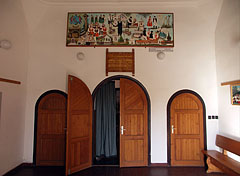 Community Center of Kakasd, the entrance and a small lobby in the Székely Tower - Kakasd, Hungary