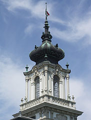 The tower of the Festetics Palace of Keszthely - Keszthely, Hungary