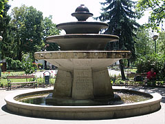 The Centennial (or Centenary) Fountain in the park - Kiskunfélegyháza, Hungary