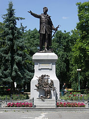 Statue of Sándor Petőfi 19th-century Hungarian poet in the main square - Kiskunfélegyháza, Hungary
