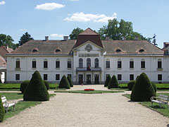 The main facade of the Széchenyi Mansion of Nagycenk - Nagycenk, Hungary