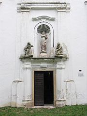 The entrance of the Roman Catholic St. Stephen's Church - Nagyvázsony, Hungary