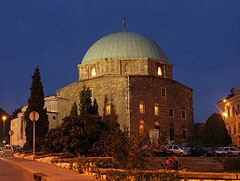 Mosque of Pasha Qasim (today Roman Catholic Church, formerly called St Bartholomew's Church) by night - Pécs, Hungary