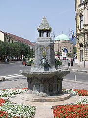 Zsolnay fountain (memorial well for Vilmos Zsolnay), and - Pécs, Hungary