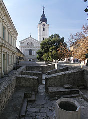 The ruins of turkish Memi Pasa's Baths, beside the Franciscan church - Pécs, Hungary