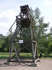 Reconstructed watchtower of the machine-gun guards - Recsk, Hungary