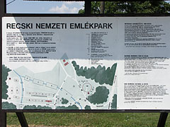 The information board of the National Memorial Park of Recsk - Recsk, Hungary