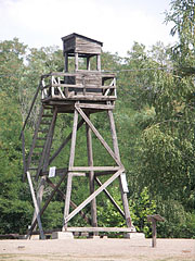 Reconstructed wooden watchtower - Recsk, Hungary