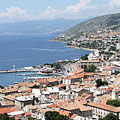 View of the town from the Nehaj Castle - Senj, Croatia