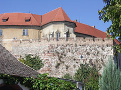 The castle wall and the castle itself with the chapel - Siklós, Hungary