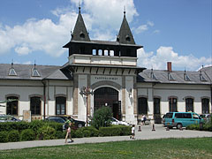 The side of the Siófok train station that overlooks to the park - Siófok, Hungary