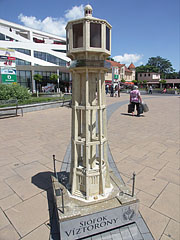 Scale model of the Siófok Water Tower in the square - Siófok, Hungary