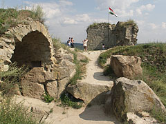 Ruins and rocks in the Upper Castle - Sirok, Hungary