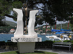 A memorial at the harbour of Slano - Slano, Croatia