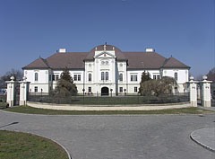 The view of the Forgách Mansion from the square - Szécsény, Hungary