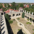 """Yard of the Hundred Columns"", viewed from the ""Pointed Tower"" - Székesfehérvár, Hungary"