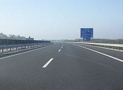 The M6 motorway close to Tolna town - Szekszárd, Hungary