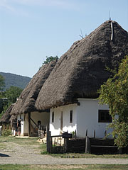 Farmhouses with thatched roofs at the croft from Kispalád - Szentendre, Hungary