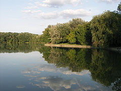 Reflections on the surface of Lake Cseke - Tata, Hungary