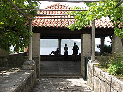 Pavilion with view to the Adriatic Sea, and the Lopud Island (part of the Elaphiti Islands) - Trsteno, Croatia