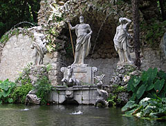 The statue group of the Neptune Fountain - Trsteno, Croatia