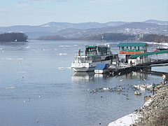 River Danube at Vác in wintertime - Vác, Hungary