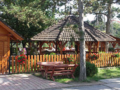 The terrace of the Forest Inn Restaurant - Veszprém, Hungary