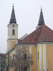 The baroque style twin-towered Mary Magdalene's Roman Catholic Parish Church - Zalaegerszeg, Hungary