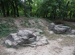 "The ""Szamárkő"" or ""Ördögkő"" (literally ""Donkey's Rock"" or the ""Evil's Rock"") at the edge of the Kiserdő forest - Zamárdi, Hungary"