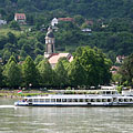Excursion boat on River Danube at Nagymaros - Nagymaros, ハンガリー