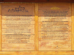 History of Sirok Castle on a board, the text is in Hungarian language - Sirok, ハンガリー