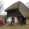 "The so-called ""emeletes kástu"" (multi-storey kástu or pantry) is one of the most typical farm building in the Őrség region - Szalafő, ハンガリー"