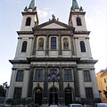 """The double steeples of the baroque Cathedral of the Visitation of Our Lady (""""Sarlós Boldogasszony"""") - Szombathely, ハンガリー"""