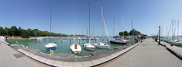 Lakeside of the Balaton, port and jetty - Balatonfüred, Hungary