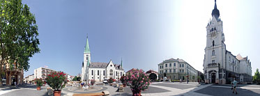 Kossuth Square, City Hall - Kaposvár, Hungary